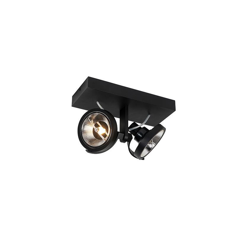 Moderne spot zwart 2-lichts - Master 111