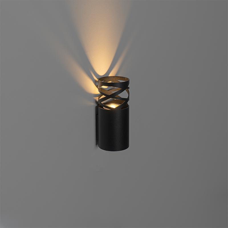 Design wandlamp zwart - Arre