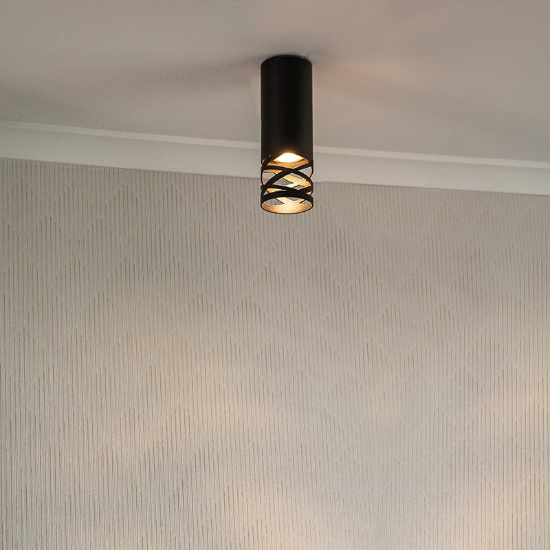 Design plafondlamp zwart - Arre