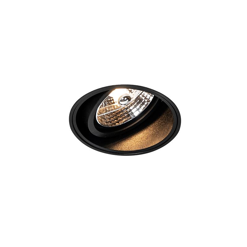 Moderne inbouwspot zwart trimless - Impact 70
