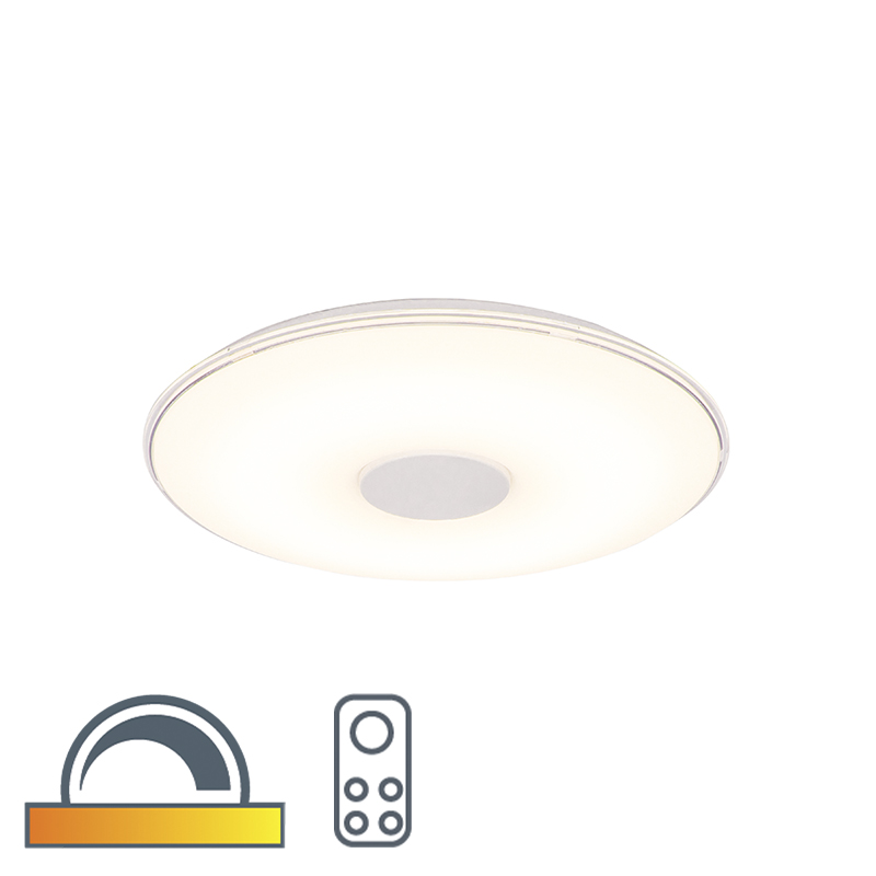 Plafonni�re rond incl. LED dim to warm afstandbediening - Seoul