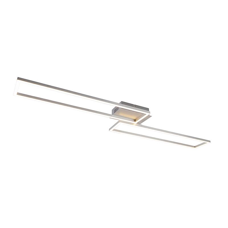 Plafondlamp staal incl. LED 3-staps dimbaar - Plazas Novo