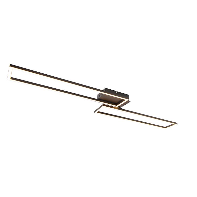 Plafondlamp zwart 110 cm incl. LED 3-staps dimbaar - Plazas Novo