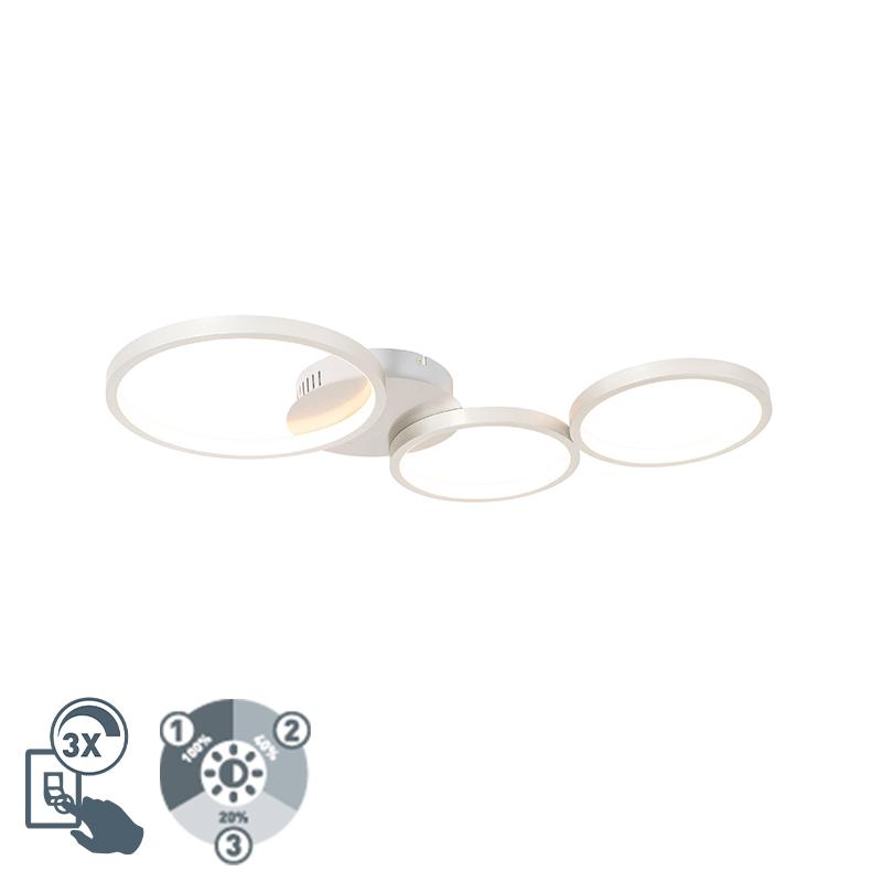 Plafondlamp wit incl. LED 3-staps dimbaar 3-lichts - Pande