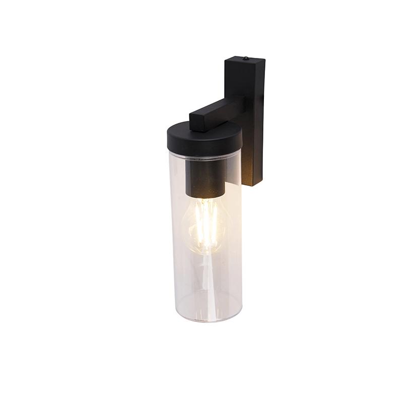 Moderne wandlamp zwart IP44 - Jara
