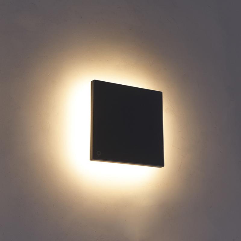 Design wandlamp grijs aluminium 15 cm incl. LED 10W - Skyf