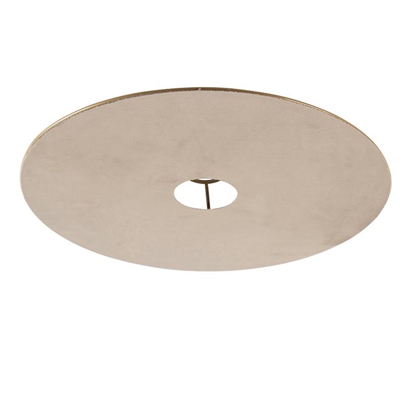 Klosz płaski welurowy szarobrązowy 45cm