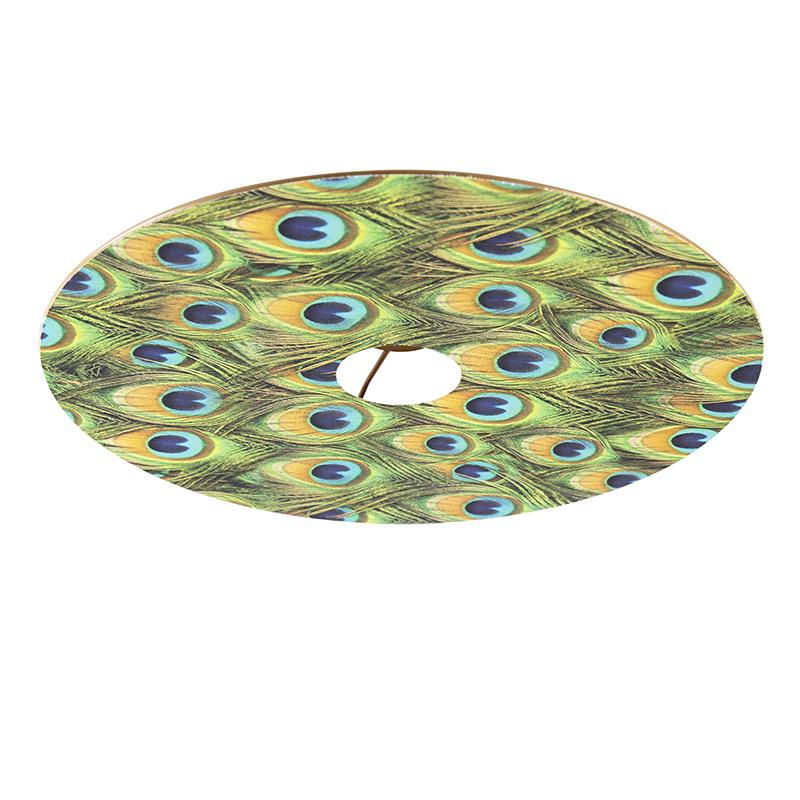 Velours platte lampenkap pauw dessin met goud 45 cm