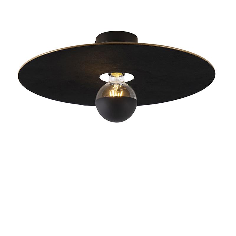 Plafon czarny klosz płaski czarny 45cm - Combi