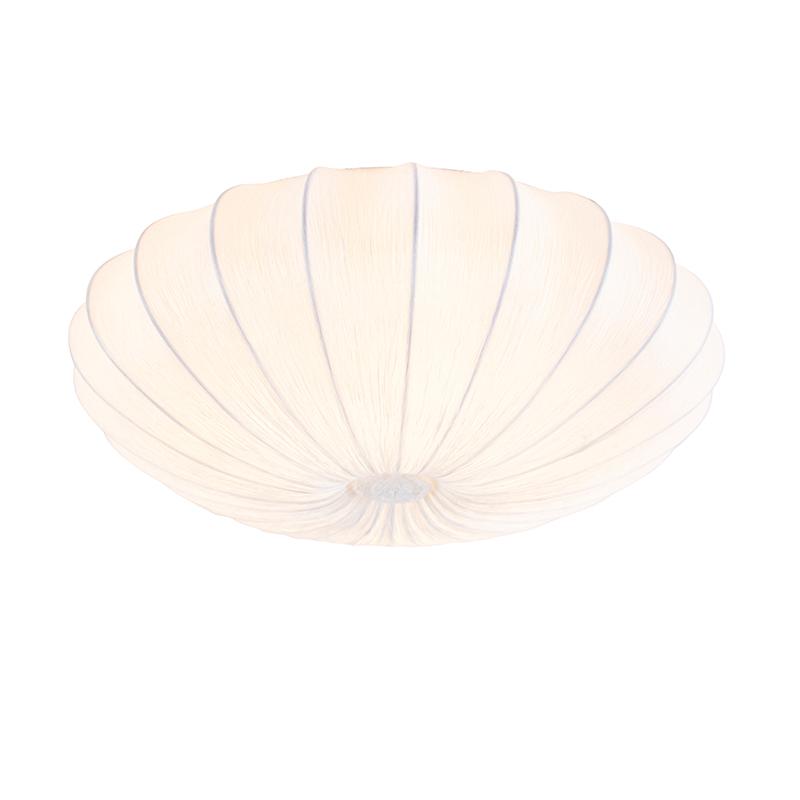 Design plafondlamp wit zijden 60 cm - Plu
