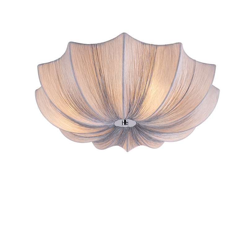 Design loftlampe grå sider 52 cm - Plu