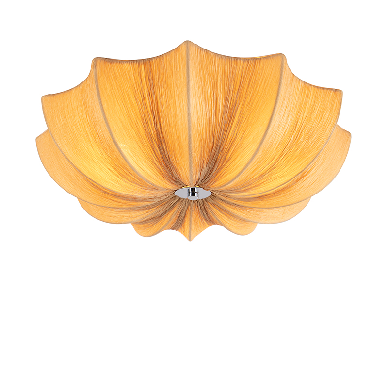 Design loftslampe beige sider 52 cm - Plu