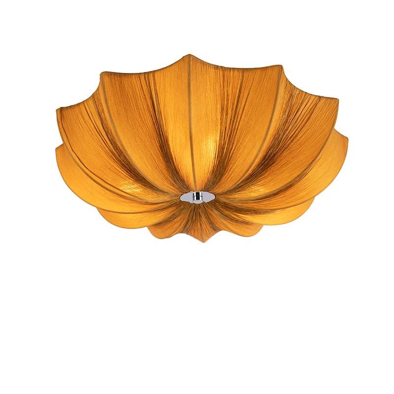 Design plafondlamp goud zijden 52 cm - Plu