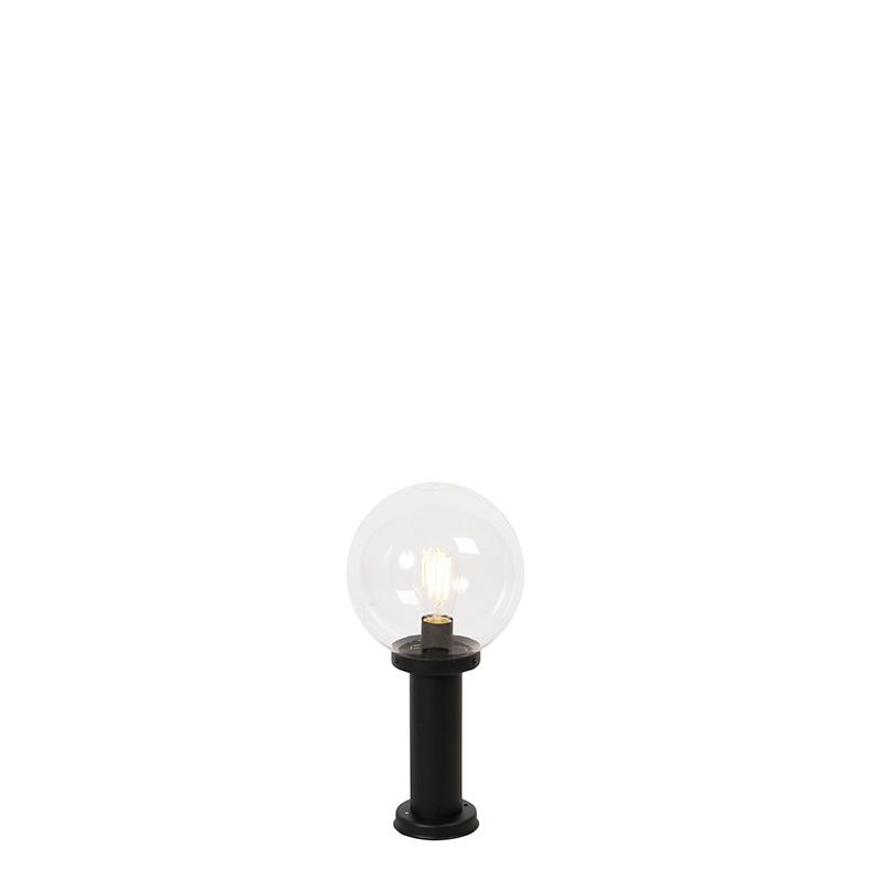 Buitenlamp zwart met helder glas IP44 50 cm - Sfera