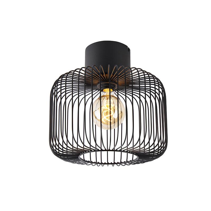 Designerska lampa sufitowa czarna - Baya