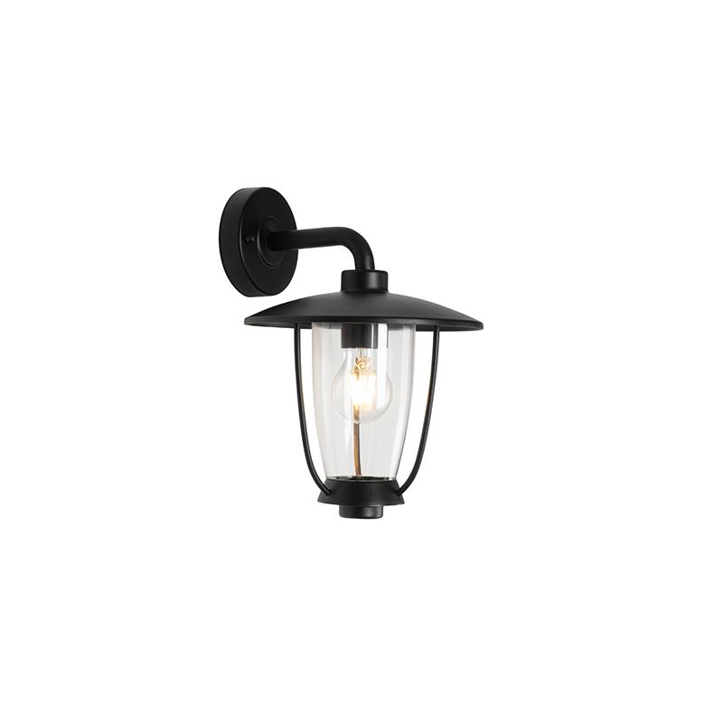 Moderne buitenwandlamp zwart IP44 - Khana
