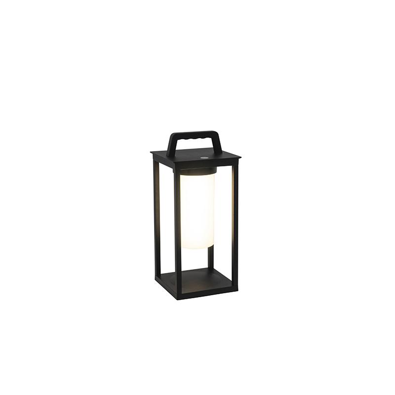 Moderne buitenlamp zwart incl. LED oplaadbaar IP44 - Denlu