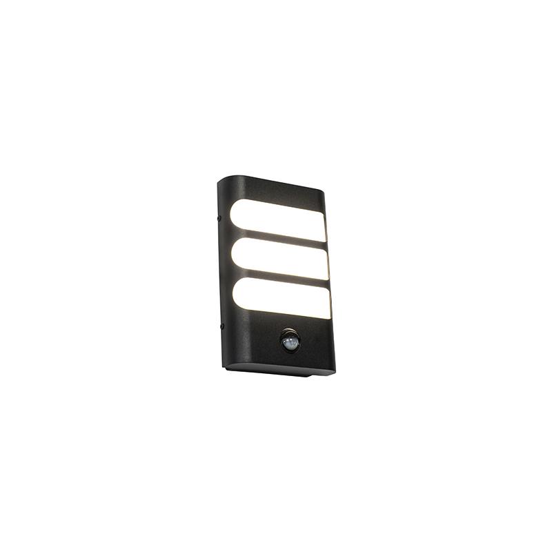 Buitenwandlamp zwart incl. LED met bewegingssensor - Gaev