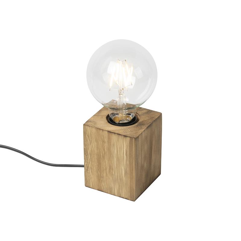 Landelijke tafellamp hout - Bloc