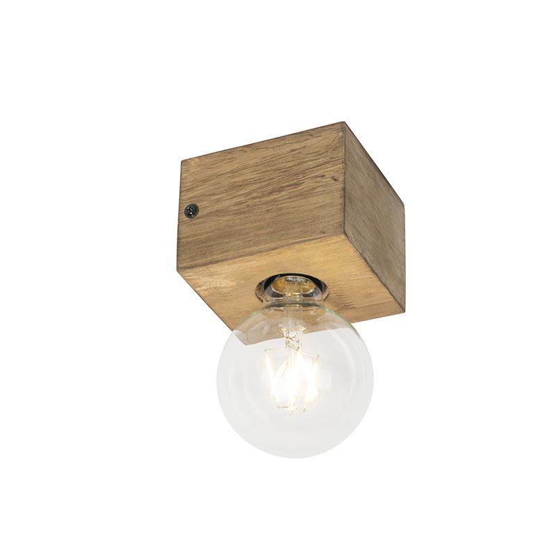 Landelijke wandlamp hout - Bloc