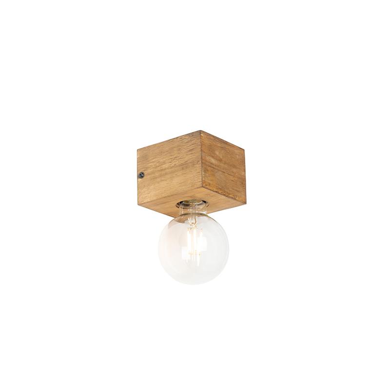 Vidiecka nástenná lampa drevo - Bloc