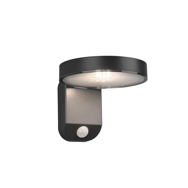 Buitenwandlamp antraciet met bewegingssensor op solar - Posada