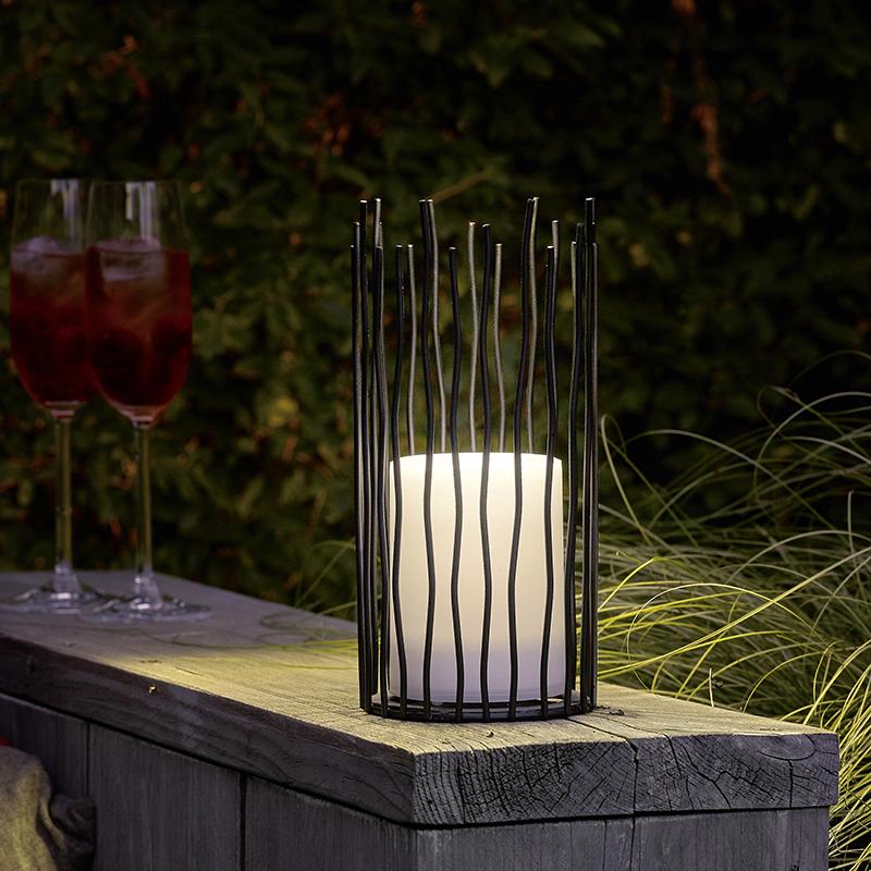Tafellamp met flame effect incl. LED op solar IP44 - Cordo
