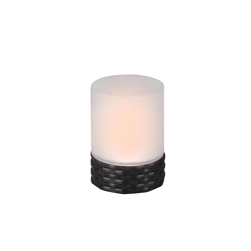 Tafellamp zwart incl. LED IP44 solar met flame effect - Parra