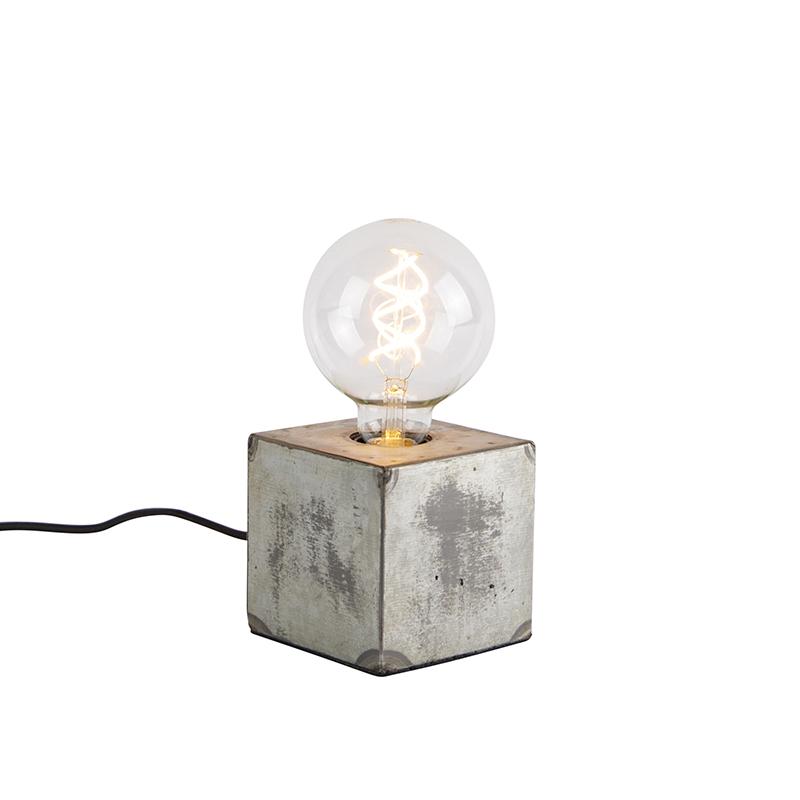 Industri�le tafellamp grijs - Samia Sabo