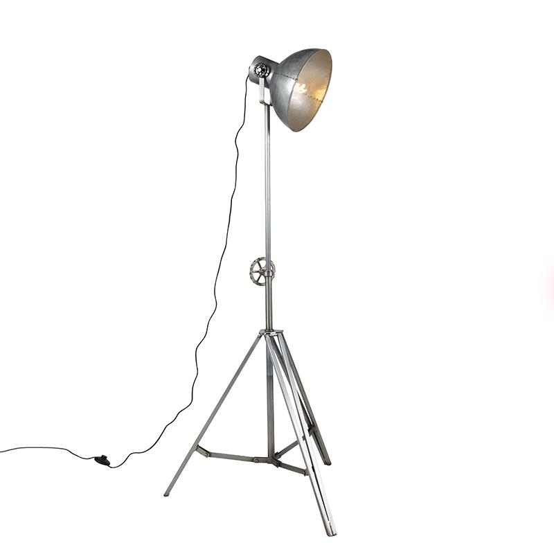 Industri�le vloerlamp driepoot grijs - Samia Sabo