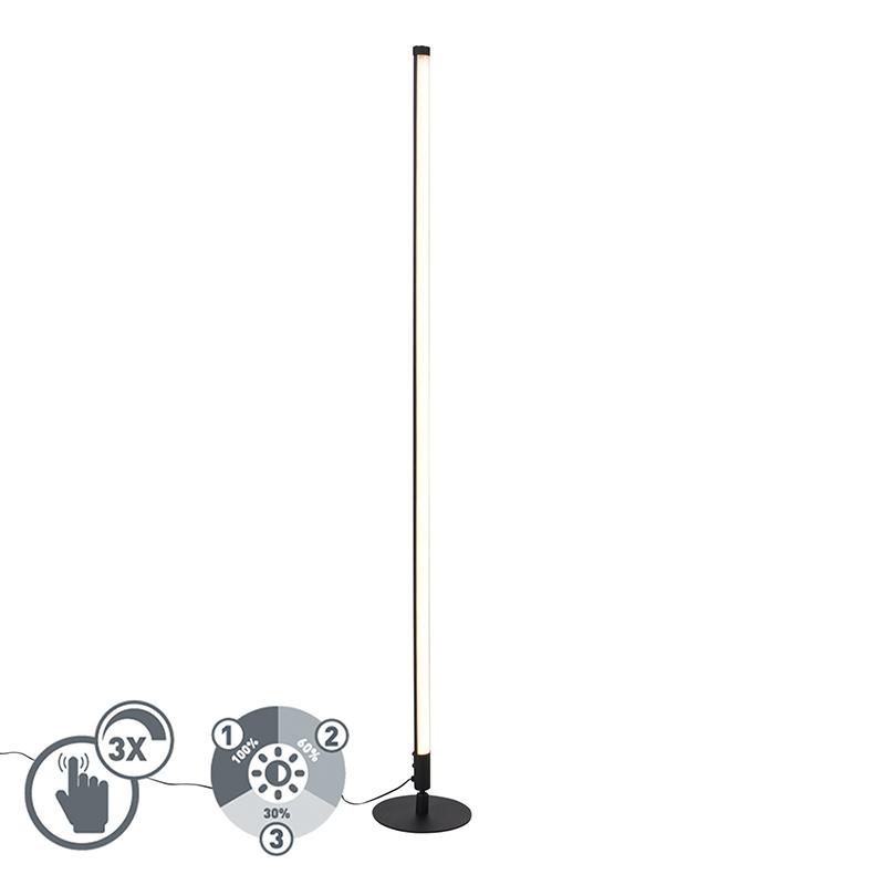 Vloerlamp zwart incl. LED met touch dimmer 3-staps dimbaar - Line-up