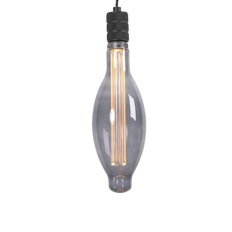 Hanglamp incl. E115 smoke dimbaar - Cavalux