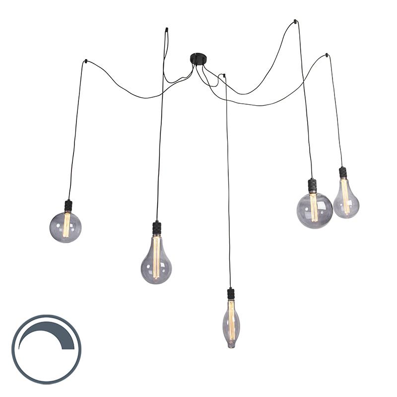 Hanglamp incl. 5 lichtbronnen smoke dimbaar - Cavalux