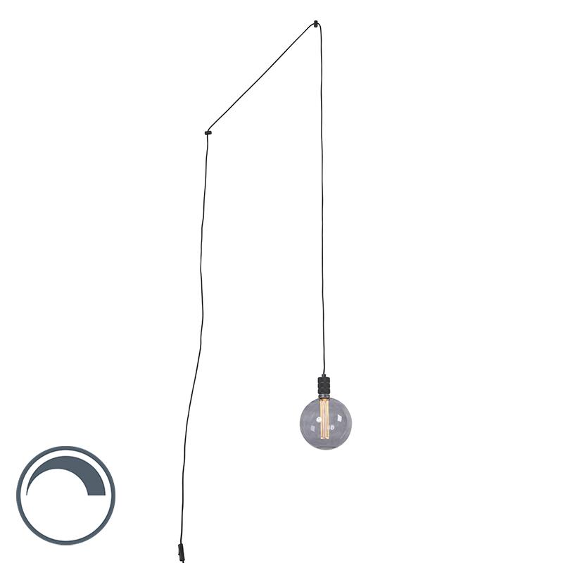 Hanglamp met stekker incl. G200 lichtbron smoke dimbaar - Cavalux