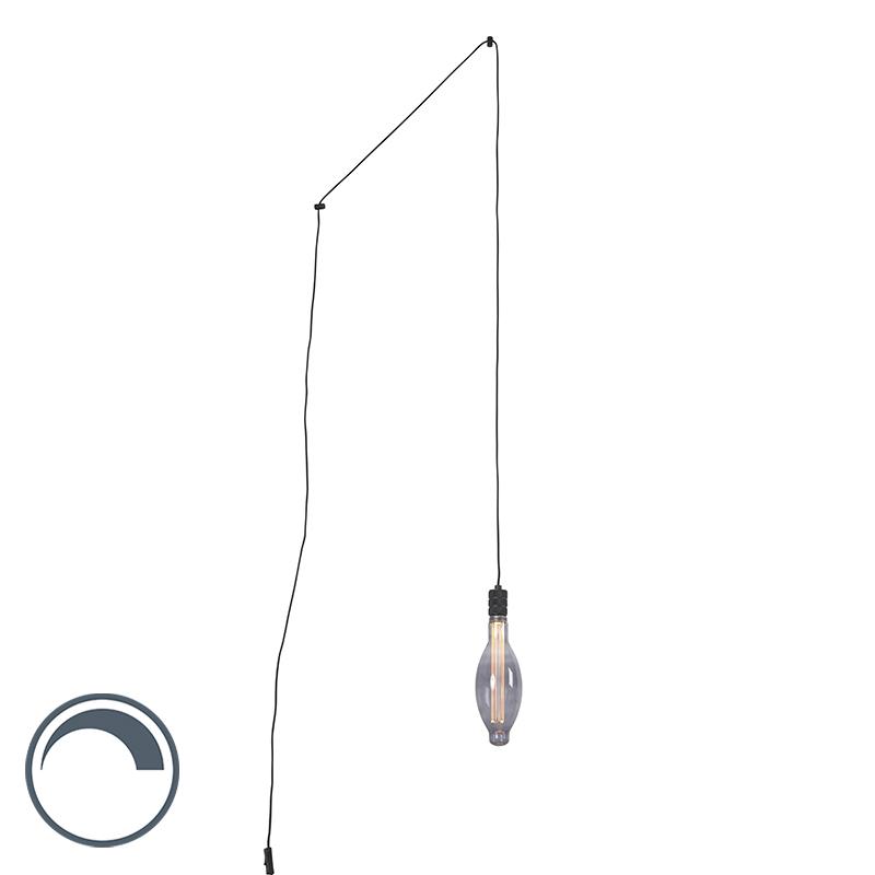 Lampa czarna z żarówką E27 E115 ściemnialna - Cavalux