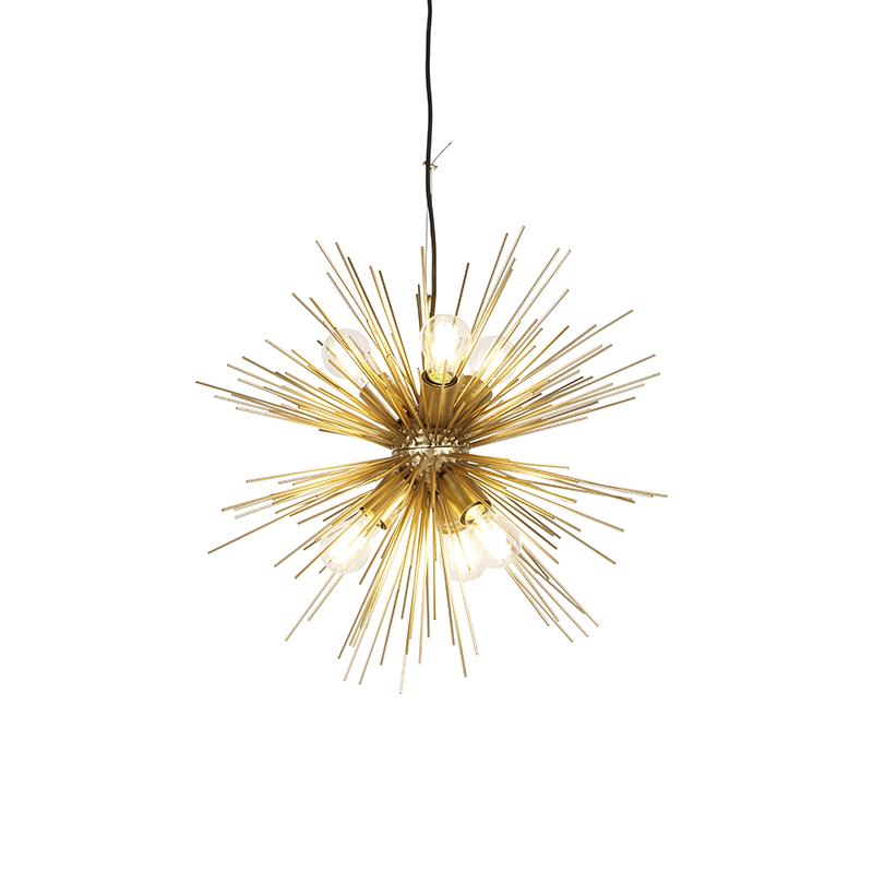 Moderne hanglamp goud 6-lichts - Broom