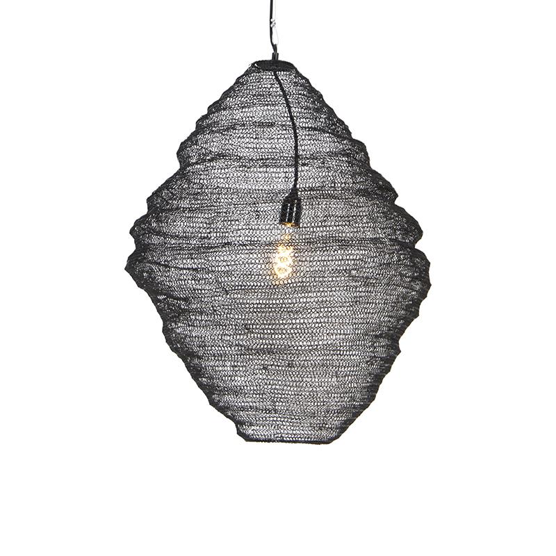 Oosterse hanglamp zwart 60 cm - Nidum