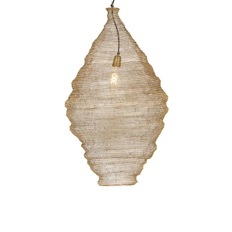 Oosterse hanglamp goud 90 cm - Nidum