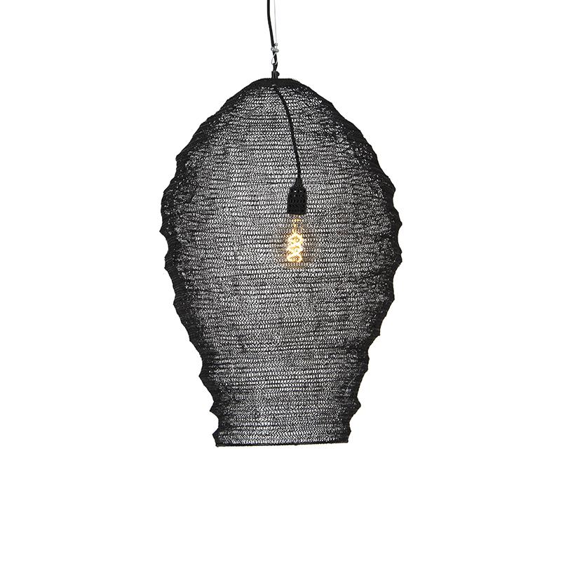 Oosterse hanglamp zwart 70 cm - Nidum
