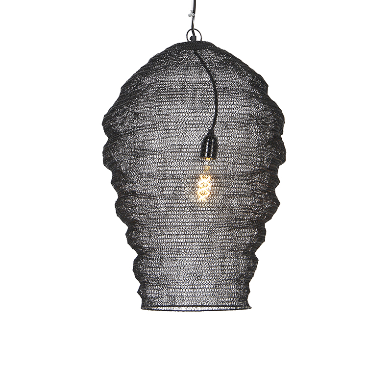 Oosterse hanglamp zwart - Nidum