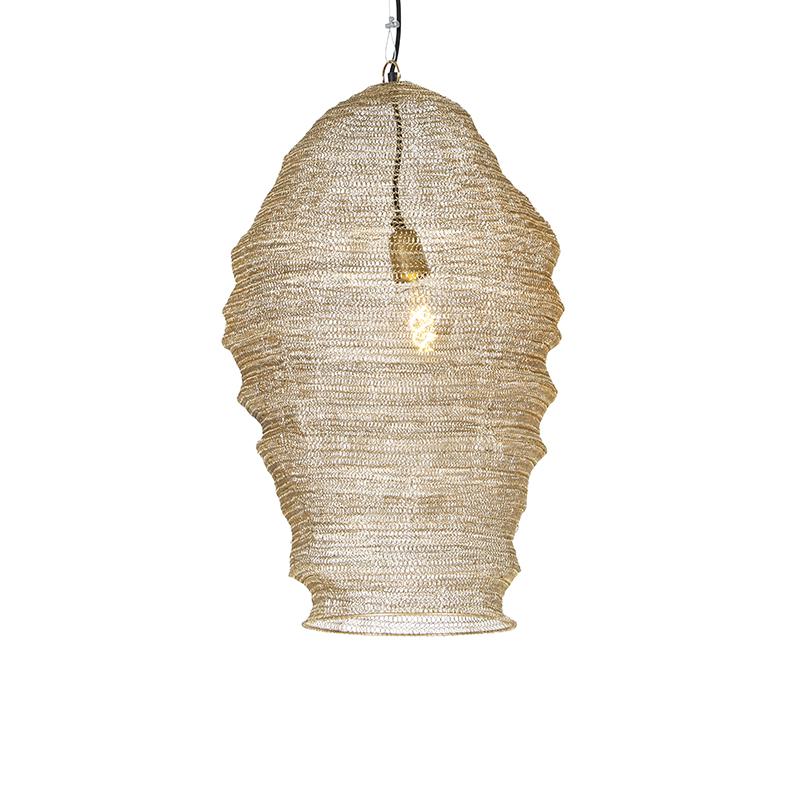 Oosterse hanglamp goud - Nidum