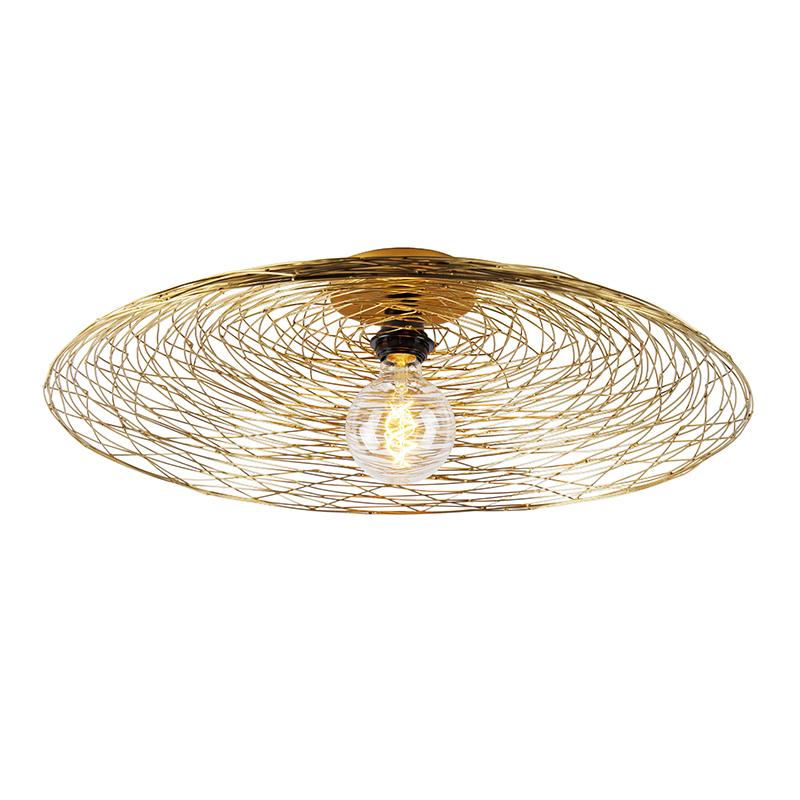 Oosterse plafondlamp goud 60 cm - Glan