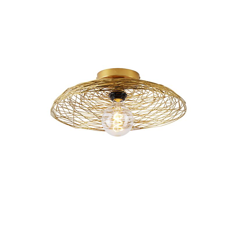 Orientalna lampa sufitowa złota 40 cm - Glan