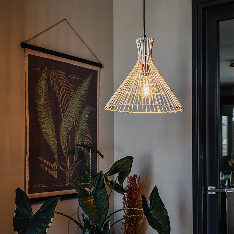 Landelijke hanglamp rotan - Vida