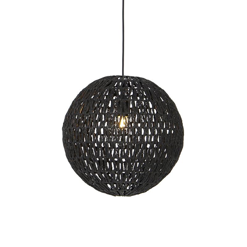 Retro hanglamp zwart 40 cm - Lina Ball