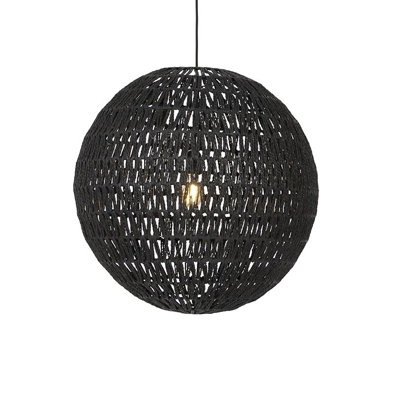 Retro hanglamp zwart 60 cm - Lina Ball