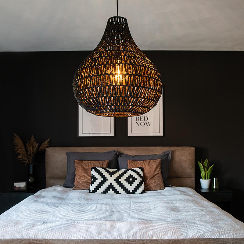 Retro hanglamp zwart 45 cm - Lina Drop
