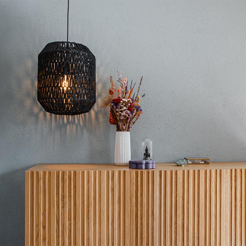 Retro hanglamp zwart 40 cm - Lina Hive