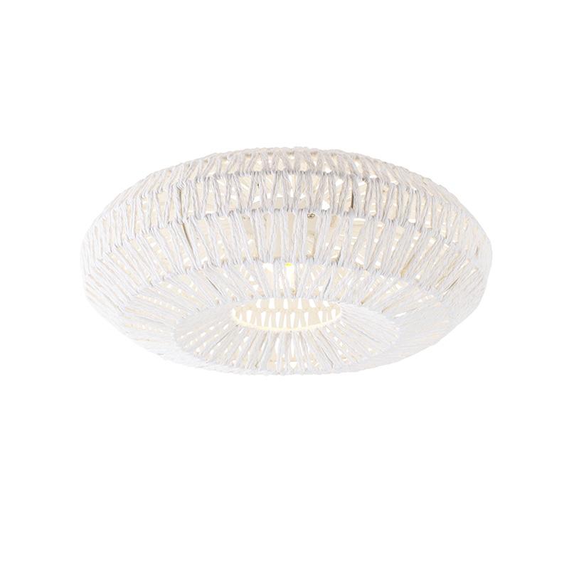 Retro plafondlamp wit - Lina