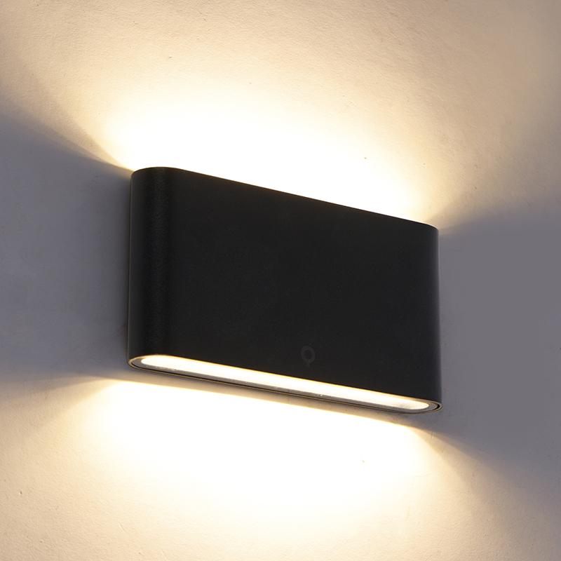 Moderne buitenwandlamp zwart 17,5 cm incl. LED IP65 - Batt